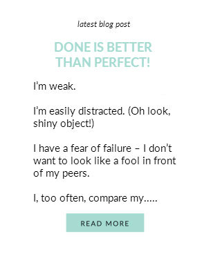 Done Is Better Thank Perfect