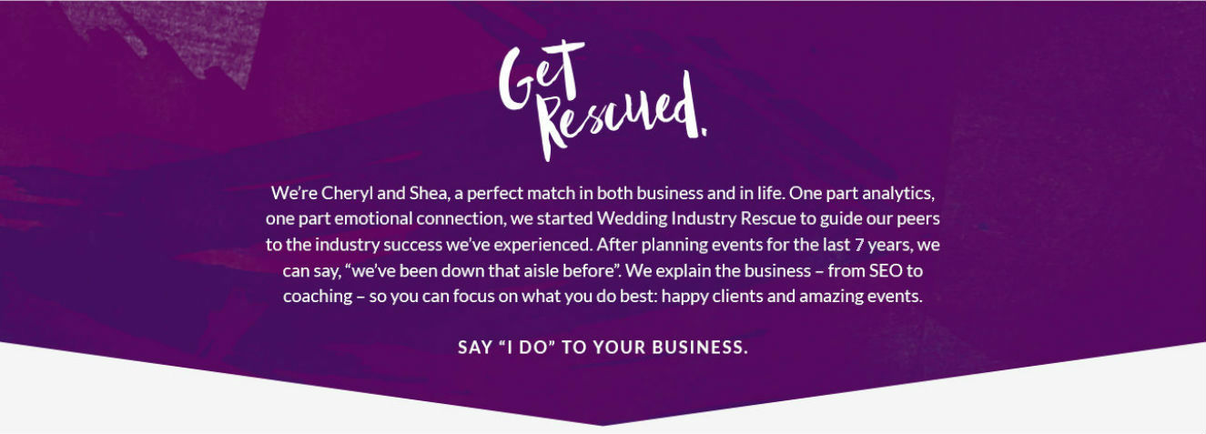Get Rescued by Cheryl and Shea of Wedding Industry Rescue