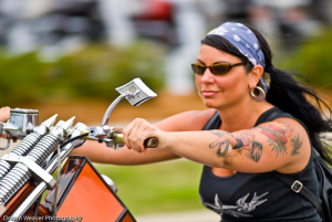 "I so dare you to look up ""Biker Chick"" in Google Images! I shudder..."