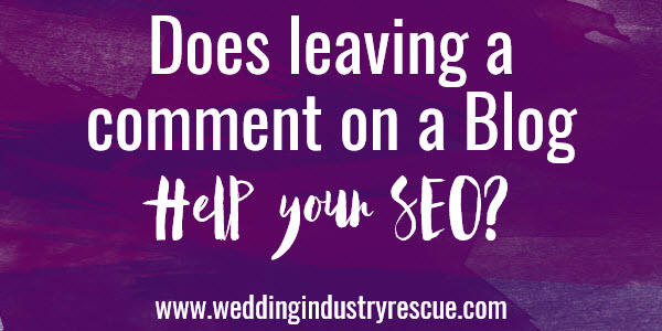 does leaving a comment on a blog help your seo